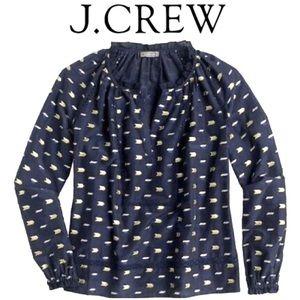 S J.CREW POINT SUR Popover Metallic Clip D…
